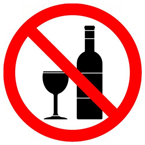 No Alcohol on Beach Sign